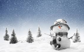 web winter picture of snowman